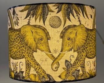 Zambezi lampshade in mustard and grey colourway - Emma J shipley fabric