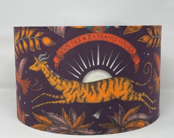 Gazelle wine drum lampshade called Zambezi by Emma J Shipley