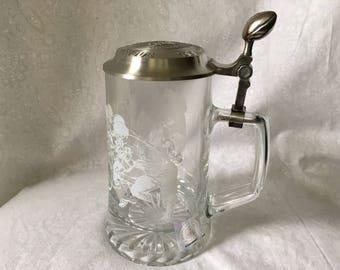 Vintage NFL National League Glass Stein