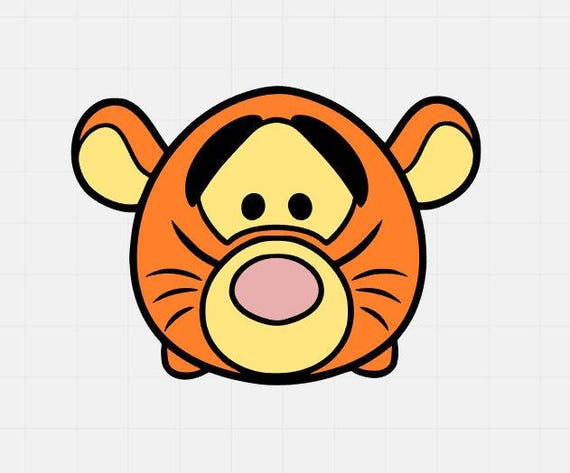 tigger svg file tigger tsum tsum svg tigger svg cut file etsy rh etsy com Pooh Tsum Tsum Donald Duck Tsum Tsum