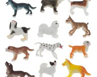 Dog Figurines Set Etsy