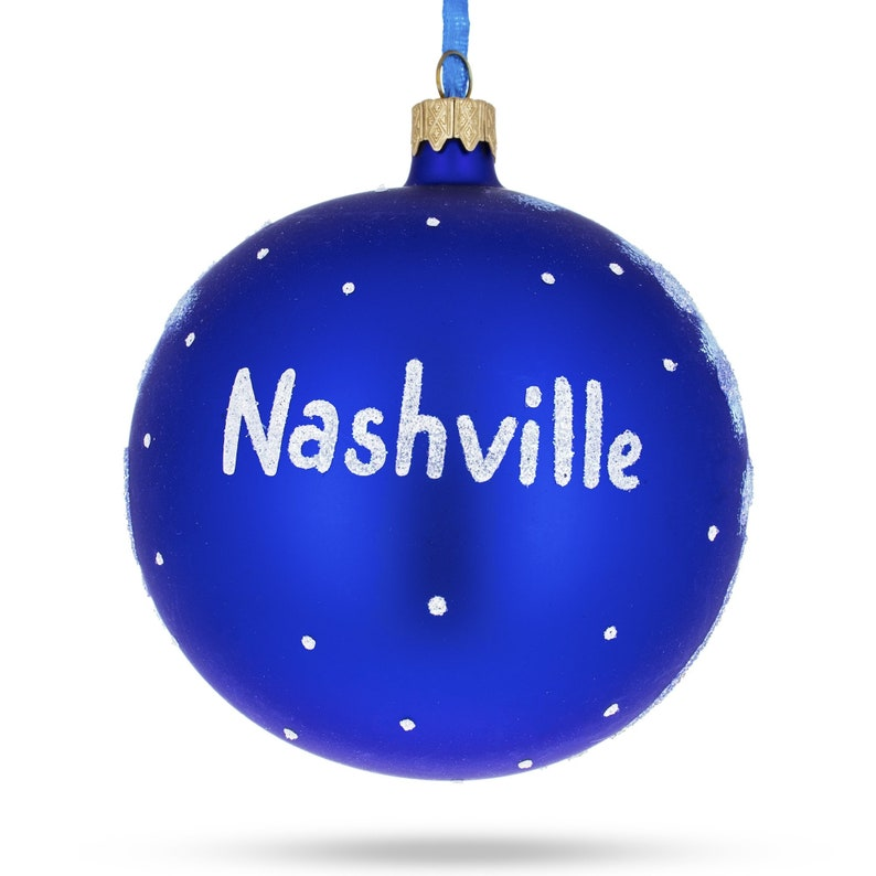 Tennessee Glass Ball Christmas Ornament 4 Inches BestPysanky Nashville