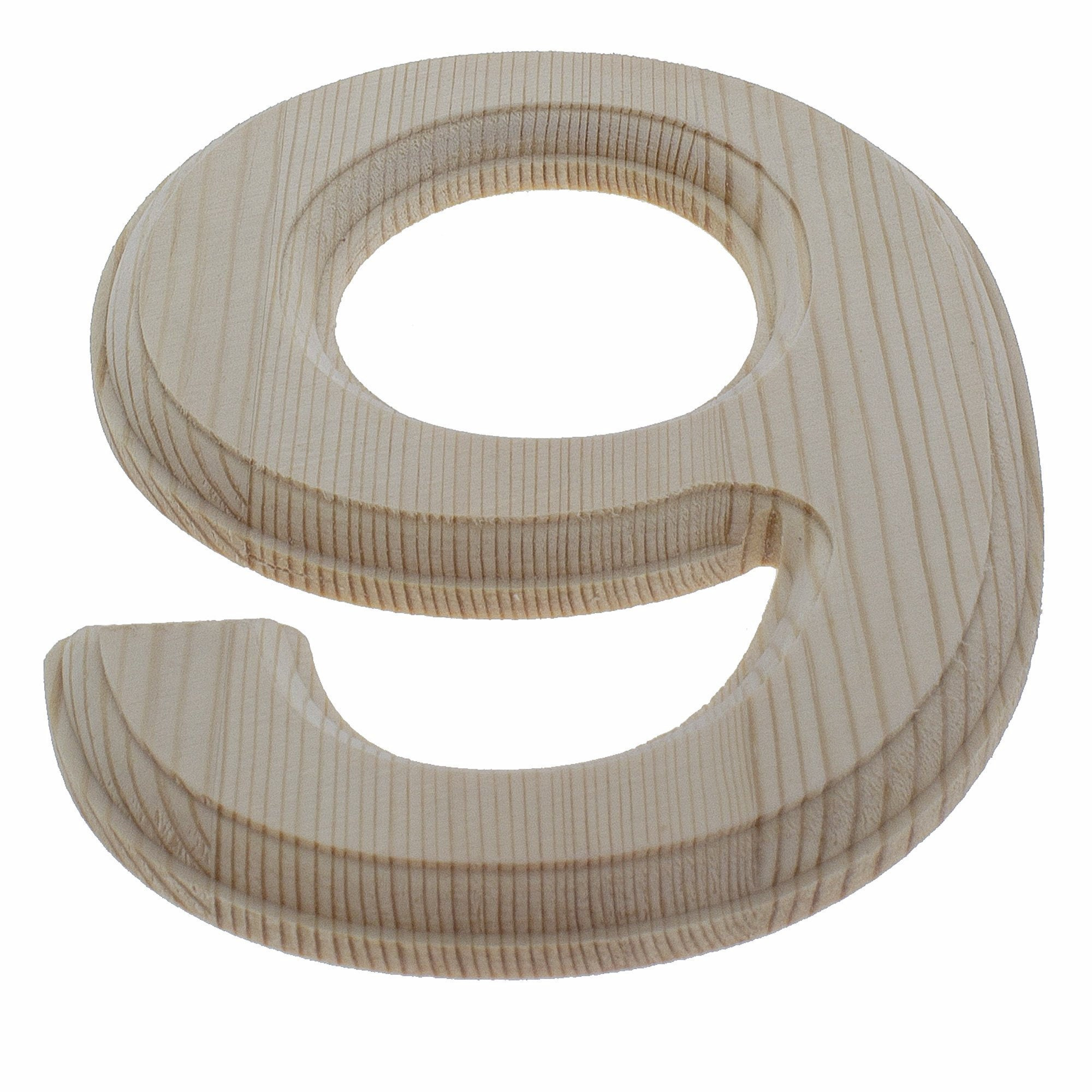 Unfinished Wooden Number 0 6.25 Inches