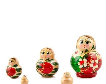 """1.75"""" Set of 5 Margarita Russian Nesting Dolls Matryoshka"""
