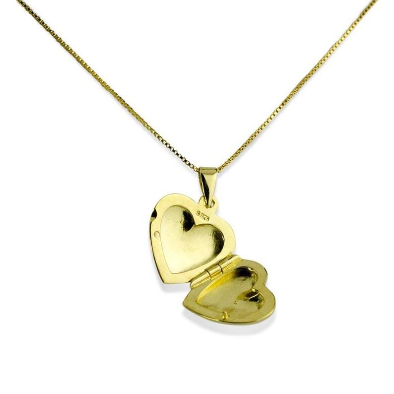 Heart Locket 14 Karat Gold Plated Sterling Silver Locket