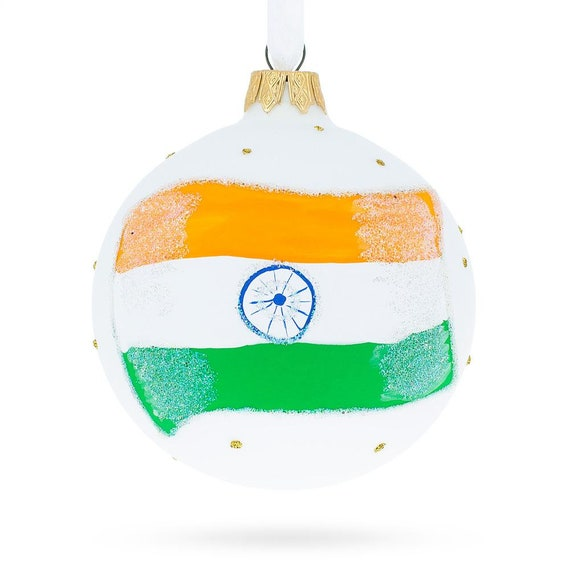 American Football Glass Ball Christmas Ornament 3.25 Inches