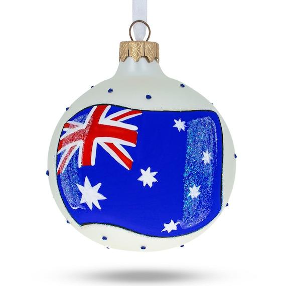 BestPysanky Flag of Taiwan Glass Ball Christmas Ornament