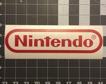 NES Nintendo Logo Vinyl Decal - 8 Bit Retro Gaming