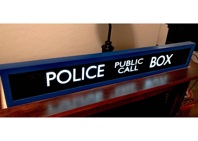 Police Public Call Box  TARDIS  Lighted Sign  Doctor Who image 0