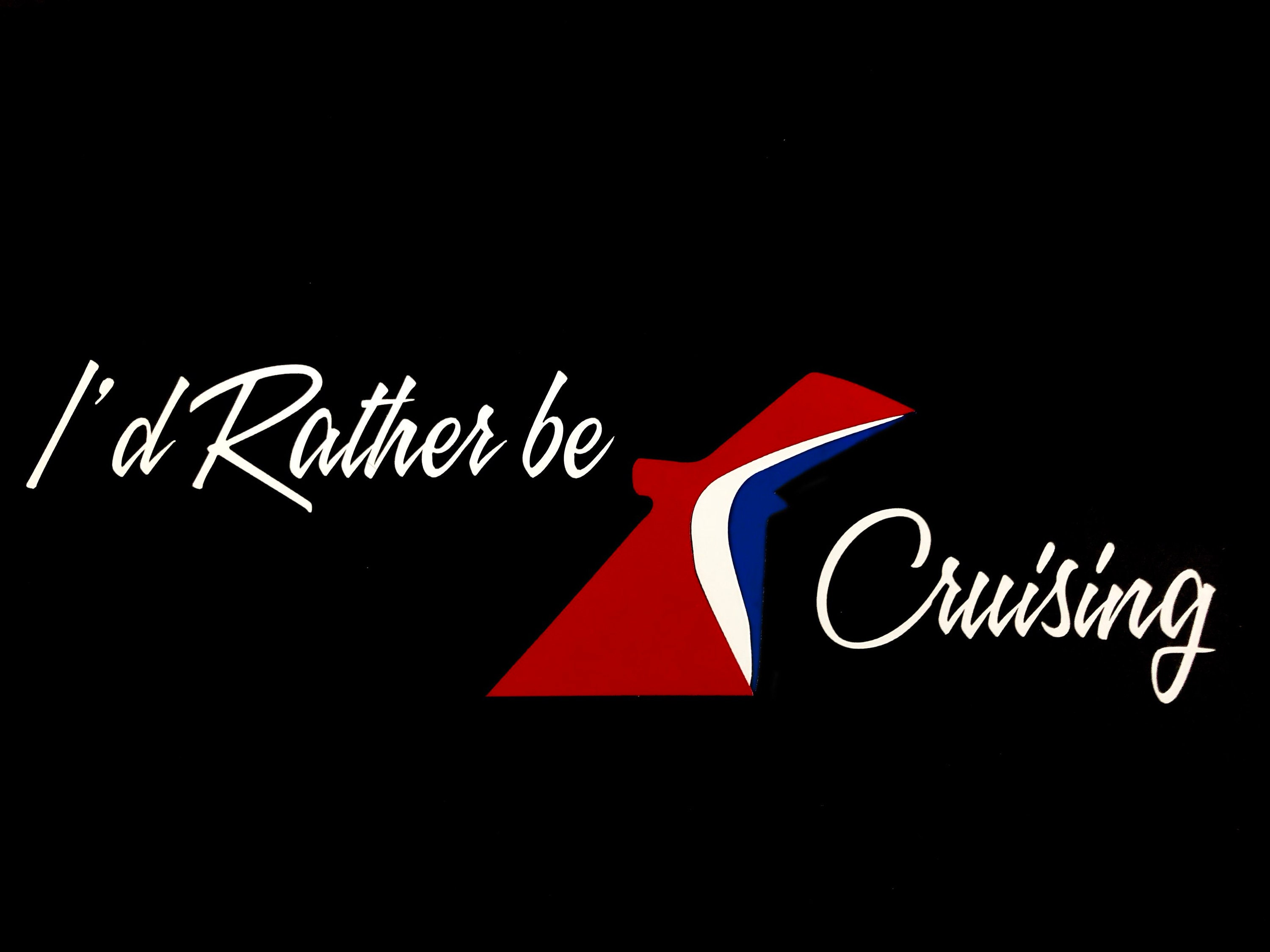 I\'d Rather Be Cruising Vinyl Car Window Decal Carnival | Etsy