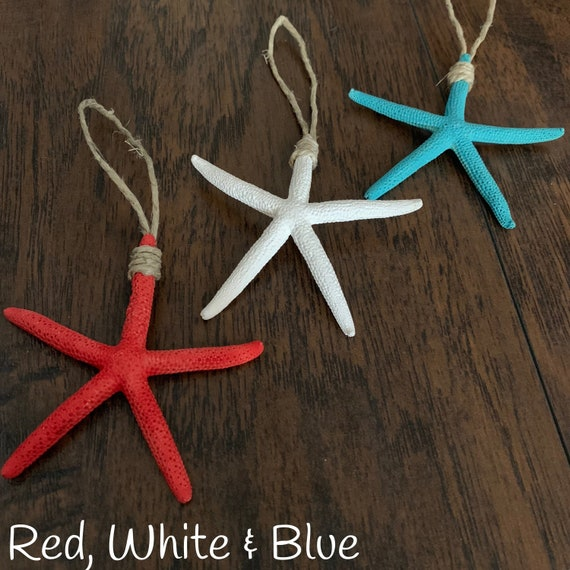 Christmas Ornament Sets.Starfish Christmas Ornament Sets Beach Christmas Ornaments White Finger Starfish Holiday Decor Coastal Ornaments Beach Decor