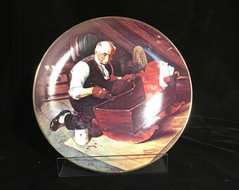 Hand-Painted Antique Display Plate