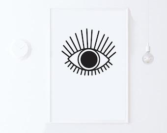 photo relating to Eye Printable identify Eye print Etsy
