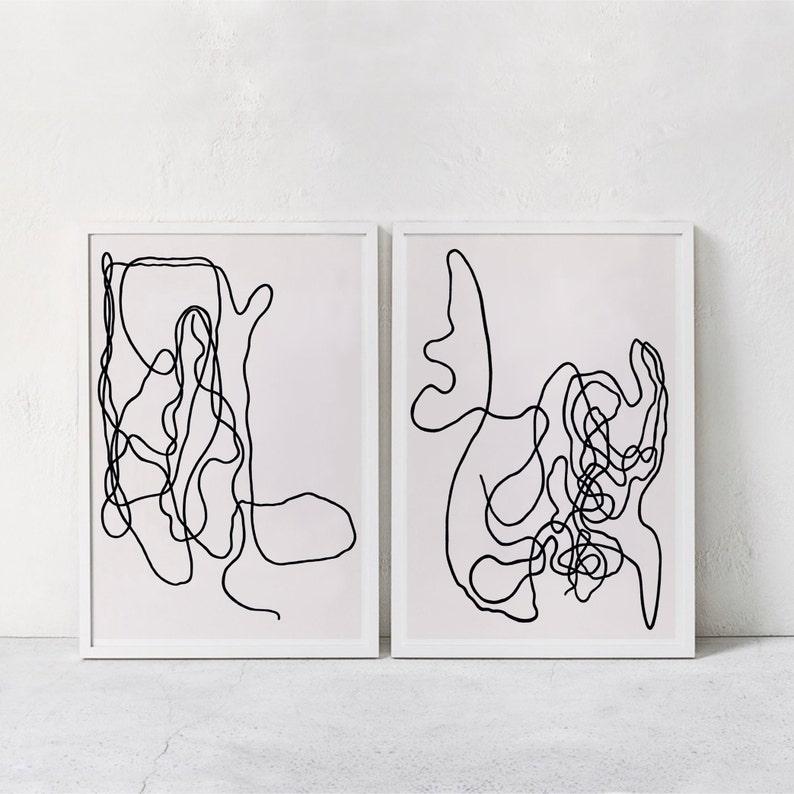 photo relating to Printable Art Prints identified as Line Artwork Prints, Minimalist Summary Artwork Print Preset Of 2, Downloadable Print, Summary Printable Artwork, Fashionable Posters Electronic Artwork 24x36