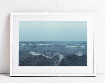 Ocean Waves Print, Ocean Print, Sea Wall Art, Sea Print INSTANT DOWNLOAD Printable Art, Sea Photo Print, Minimalist Art, Blue Wall Art 24x36