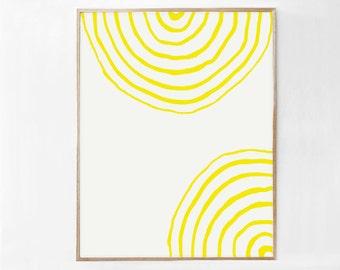 Yellow Art Print, Yellow Poster Print Download, Yellow Printable Art DIGITAL DOWNLOAD PRINT Yellow Decor, Simple Wall Art, Modern Art 18x24