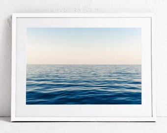Ocean Print, Sea Horizon Print, Ocean Waves Printable Art Print, Ocean Photography, DIGITAL DOWNLOAD Print, Blue Sea Print Art, Nautical Art