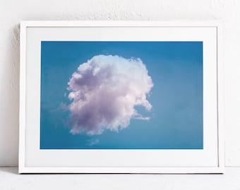 Cloud Print Cloud Art, Cloud Photo Print, Blue Decor, Cloud Photography Printable, Bedroom Art, Living Room Art DIGITAL DOWNLOAD Print 24x36