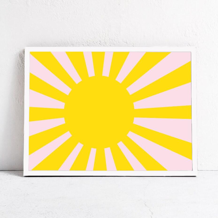 Sun Printable Art Colorful Wall Art Nursery Print Sun Print | Etsy