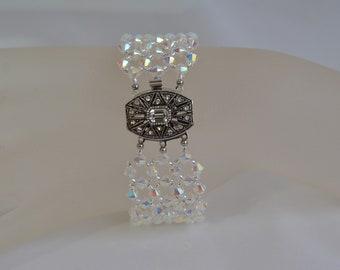 da01f08d2d183 Swarovski crystal ball ring shade ab2x and crystal golden | Etsy