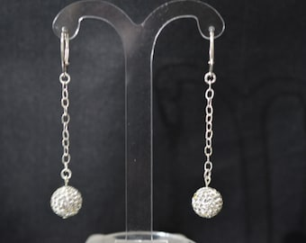 Swarovski crystal and crystal 925 silver earrings