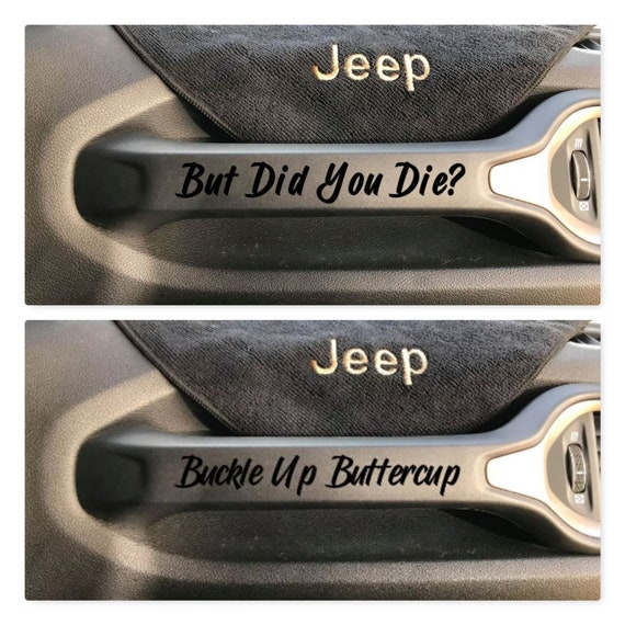 Jeep Renegade Grab Handle SET X 4 Decals Stickers Vinyl Accessory
