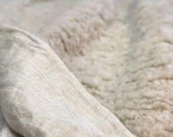 Plaid Bedspread Of Organic Unique HEMP FUR   Pure Hemp/ Hemp Blanket  Cover/Organic Bedding/Full King Cover/Bed Cover/Hypoallergenic