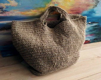 00bf3e78d 100% Flax bag/ kniting handbag, unique, stylish, messenger bag/organic bag/  hemp bags / knit hemp bag /tote bag / eco bag