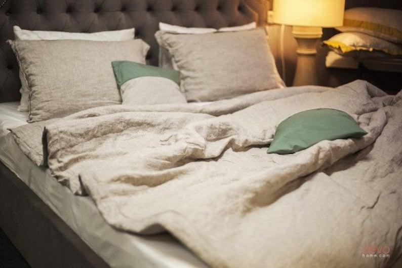 Leinen Gewaschen Bio Bettwäsche Bettwäsche Aus Leinen Flachs Blatt Kissen Bettbezug Kinder Twin Voller Königin König Größe Natur