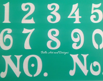 2 and 3 inch Number Stencil Sets- **Free gift with every order**
