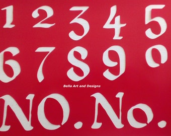 2 and 3 inch Number Set Stencils - **Free gift with every order**