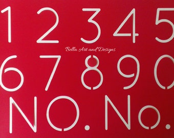 2 and 3 inch Number Set Stencils - **Free gift with every order*