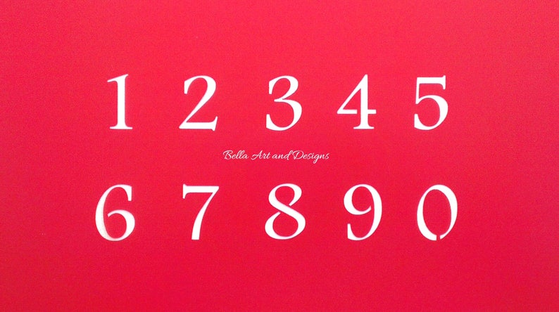 LET021 Medium letter and number stencil set *Free gift with every order*