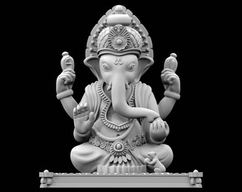 STL file of Ganesha on Lotus Idol for 3D Printing   Etsy