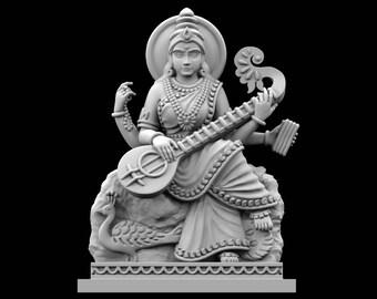 STL File of Laxmi on Lotus Idol for 3D Printing   Etsy