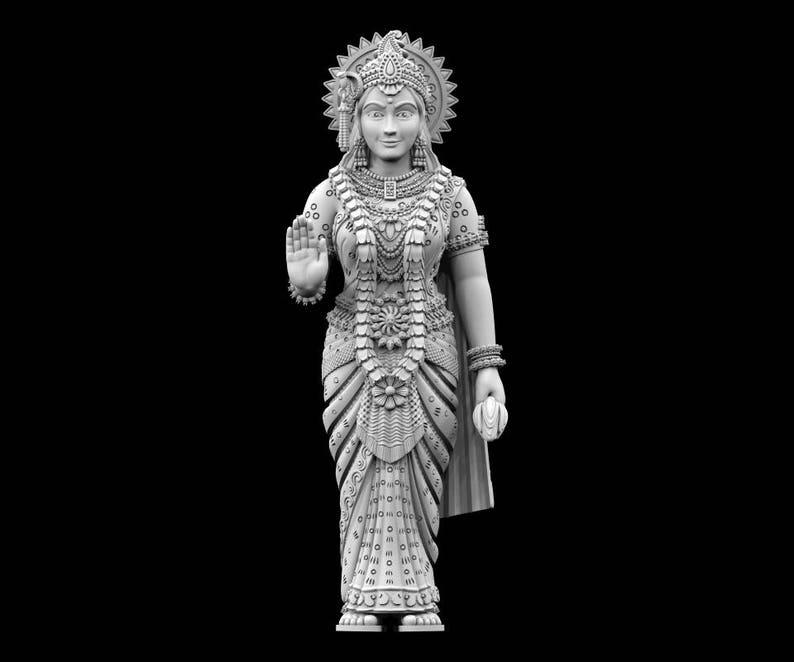 STL File of Laxmi Standing Idol for 3D Printing