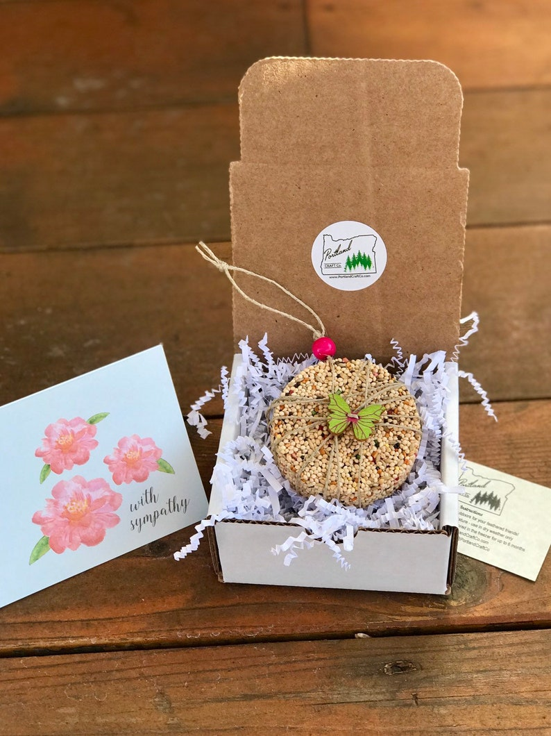 Sympathy Gift Box Personalized Bird Seed Ornament Gift Box  image 0