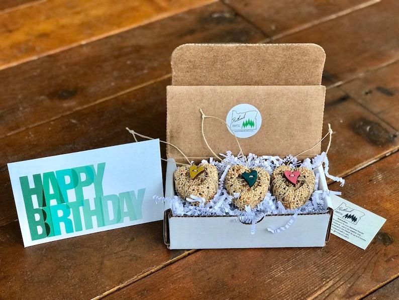 Birthday Gift Box  bird seed ornament best friend gift image 0