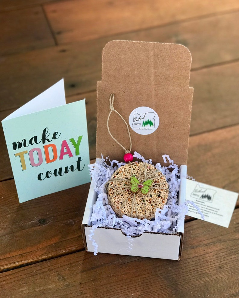 Make Today Count  Theme Gift Box  Personalized bird seed image 0