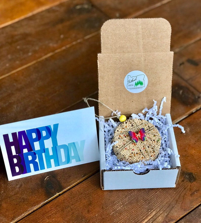 Birthday theme Bird Seed Ornament Gift Box  new neighbor image 0