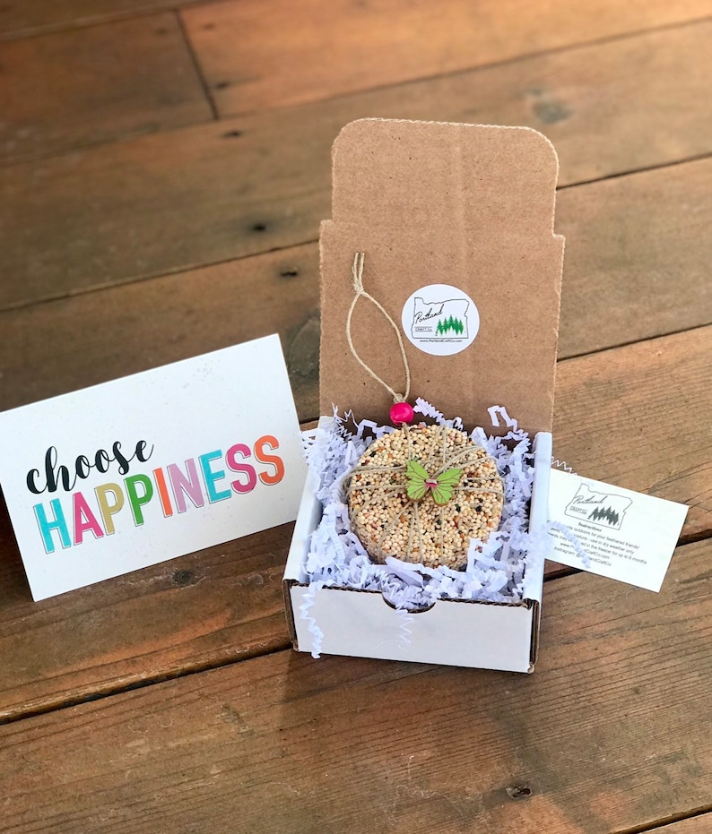 Choose Happiness Themed Gift Box  Personalized bird seed image 0