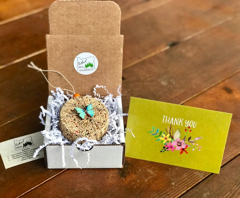 Thank you gift box Butterfly-theme Bird Seed Ornament Gift image 0
