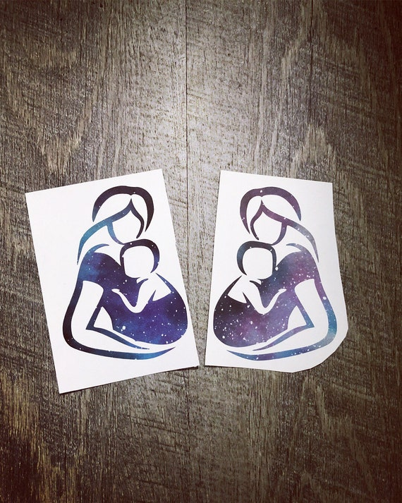 sticker valentines gift keep your babies close Galaxy Babywearing Decal