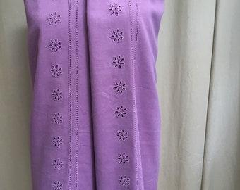 Designer Purple Cotton Fabric, USD22.00 per yard