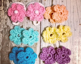 Baby infant barefoot sandals interchangeable flowers