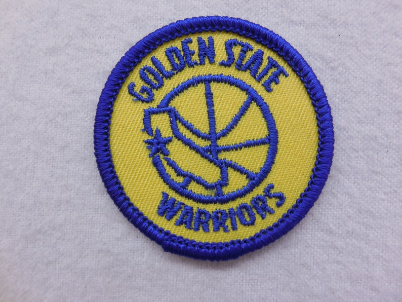 pick up 541d1 4b8f7 NBA Vintage Golden State Warriors Sew On Patch   Etsy