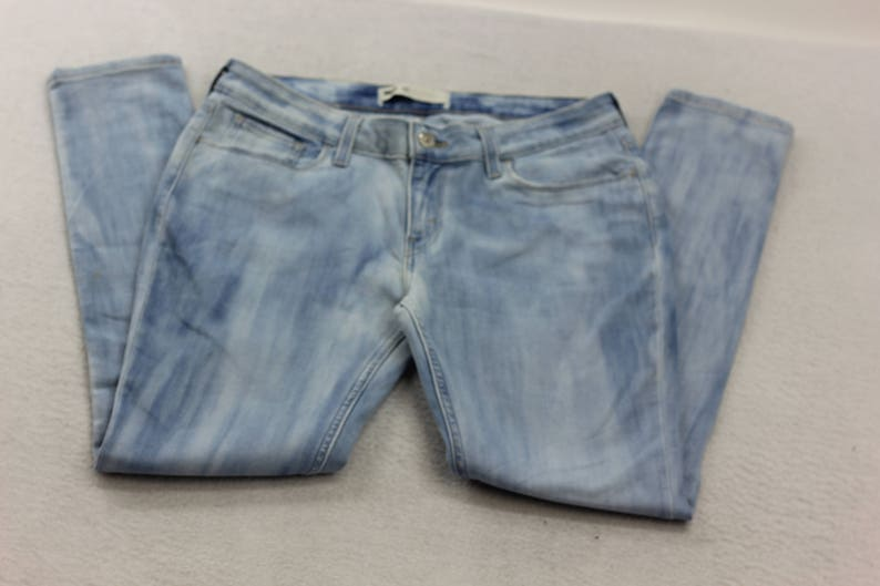caf3380d59 Upcycled Levi s Womens Dyed Light Wash Stretch Denim
