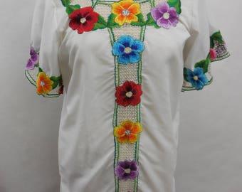 Urban Renewal Vintage 70's Embroidered Shift Dress S/M