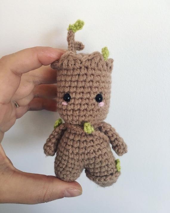 GROOT BEBE Amigurumi Guardianes de la Galaxia Tutorial Crochet ... | 713x570