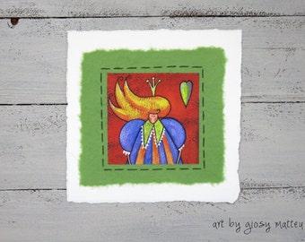 """Small fine art print """"regina di cuori"""""""